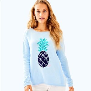 NWT Lilly Pulitzer XS Roselle Sweater Pineapple